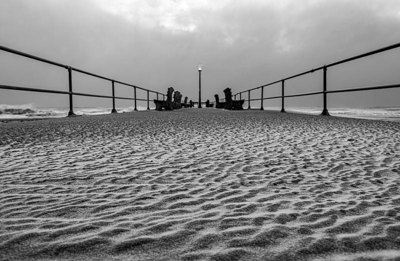 Snow & Sand On Ocean Grove Pier 12/17/20