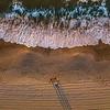 An Aerial View Of Ocean Waves Over Ocean Grove Beach 9/4/21