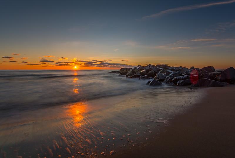 Sunrise Jetty on Ocean Grove Beach 3/3/16