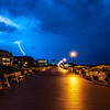 Lightning Over The Ocean Grove Boardwalk Looking North Toward Asbury Park 8/7/18