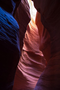 Slot canyon in Utah.