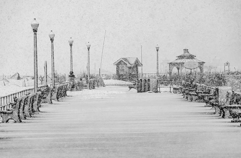 A Snowy Scene On Ocean Grove Boardwalk 2/7/21