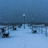Snowy Scene at Ocean Grove Pier 3/13/18