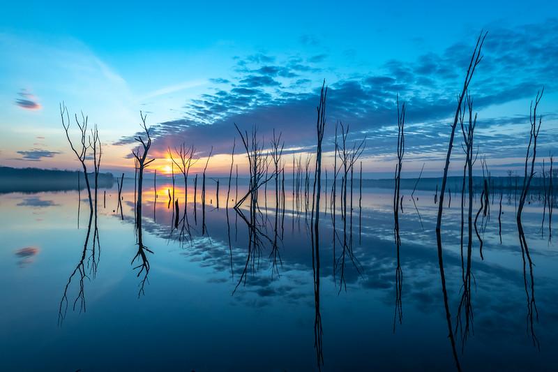 Sunrise Reflection Over Manasquan Reservoir 3/3/19