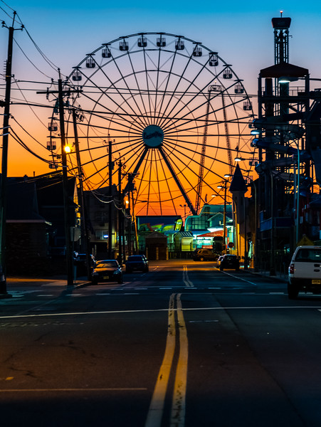 Predawn Colors Over The Ferris Wheel on Seaside Heights Boardwalk 9/8/19