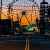 Predawn Colors Over The Ferris Wheel on Seaside Heights Boardwalk 9/8/19