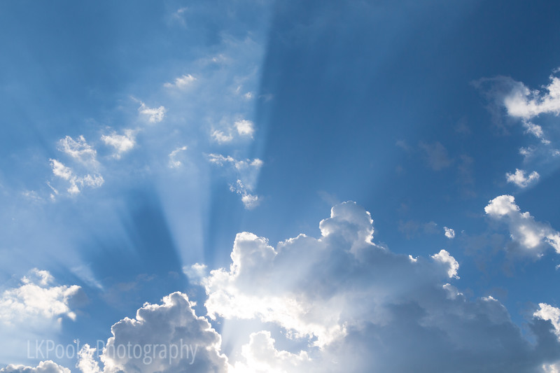 Beautiful Clouds and God Beams