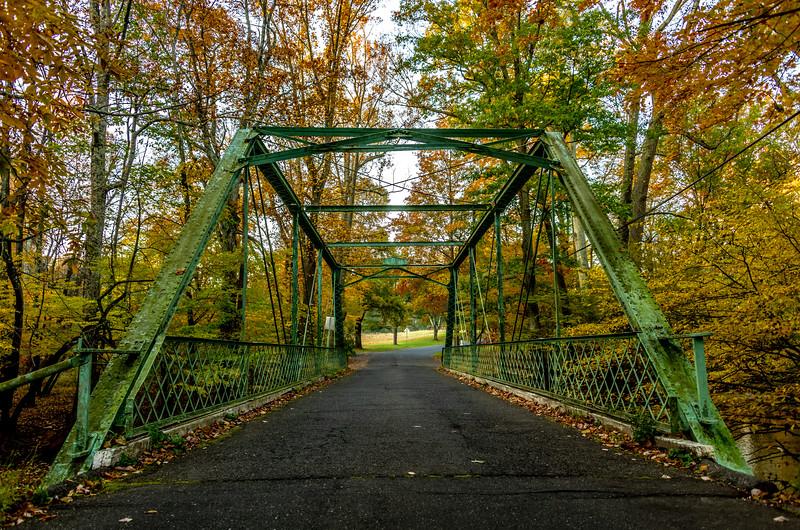 Autumn Colors Over Truss Bridge 11/1/18