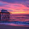 Colorful Sunrise Over Pier, Belmar, NJ