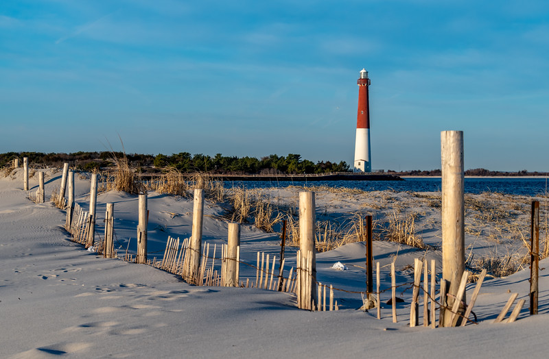 Barnegat Lighthouse As Seen From Island Beach State Park 2/17/19
