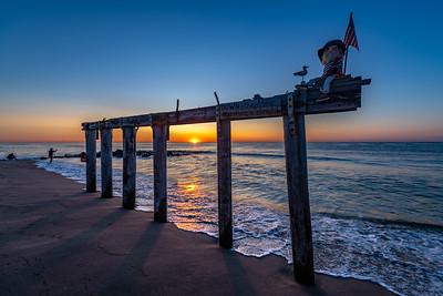 Sunrise Over Ocean Grove Pier Remnants 8/11/19