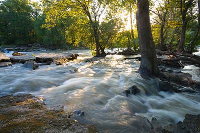 Spring River dam high water