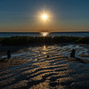 Sunset Over A Tide Pool On Delaware Bay 6/13/20