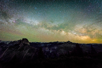 Half Dome and the Milky Way from Glacier Point.