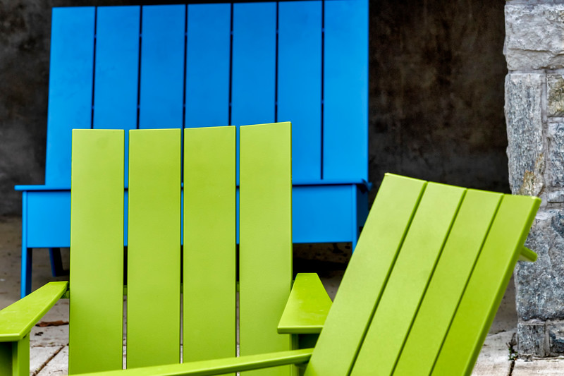 Garden chairs on the patio