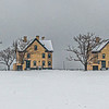 A Snowy Scene at Officer's Row In Sandy Hook 2/7/21