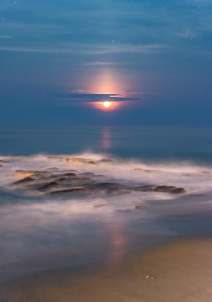 Moonrise Over Ocean Grove Jetty 7/13/17