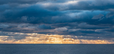 Sun Rays Breaking Through Clouds 10/18/18