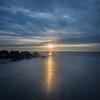Long Exposure of Sunrise at Jetty, Ocean Grove, NJ