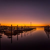 Sunset Reflection At Belmar Marina 11/3/15
