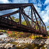 Autumn Foliage Around Railway Trestle Bridge In The White Mountains, NH 10/5/20