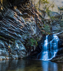Waterfalls in Hanging Rock State Park North Carolina