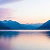 Interlaken Pink water refelction