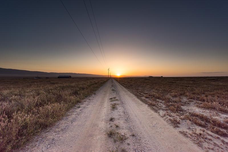 Carrizo Plains at sunset.