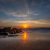Sunrise Jetty and Beach at Ocean Grove, NJ