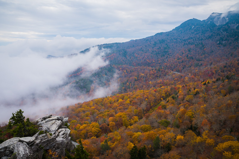 Morning mist over Grandfather Mountain