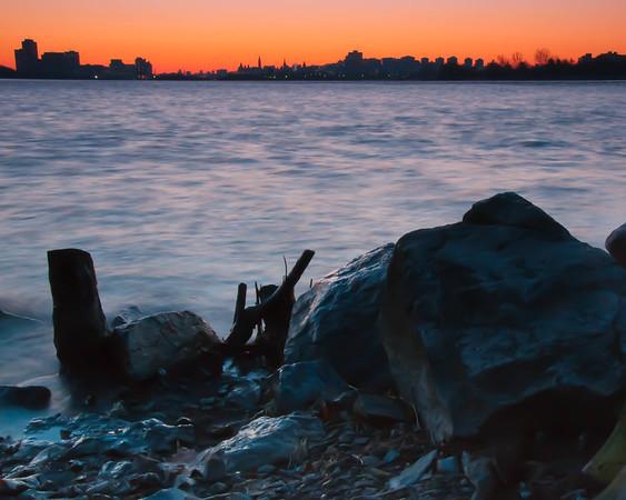 Bate Island view on Ottawa