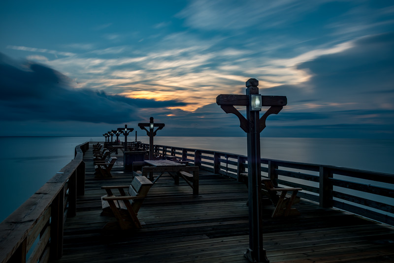 Predawn Colors Over Kitty Hawk Pier, Outer Banks 8/12/18