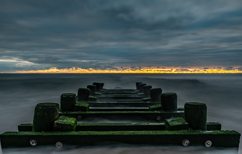 Cloudy Sunrise Over Jetty 1/1/20