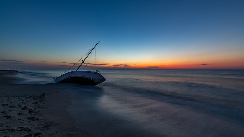 Predawn Colors over Abandon Sailboat 7/14/19