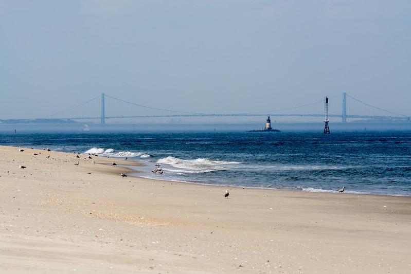 A View of the Verrazano Bridge from Sandy Hook, NJ