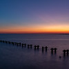 Predawn Colors Over Remnant Pier Poles In Raritan Bay, NJ 9/29/19