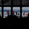 Abord the ferry ship silhouettes in daylight - Nature Stock Image by Professional Nature Photographer Christina Craft