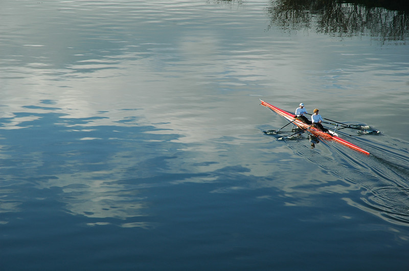 Rowers in a kayak (two person kayak)<br /> <br /> <br /> Travel Stock Photography for the Nature Stock Photography Library by Professional Photographer Christina Craft