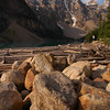 Moraine Lake in the rockies near Lake Louise - Nature Stock Image by Professional Nature Photographer Christina Craft