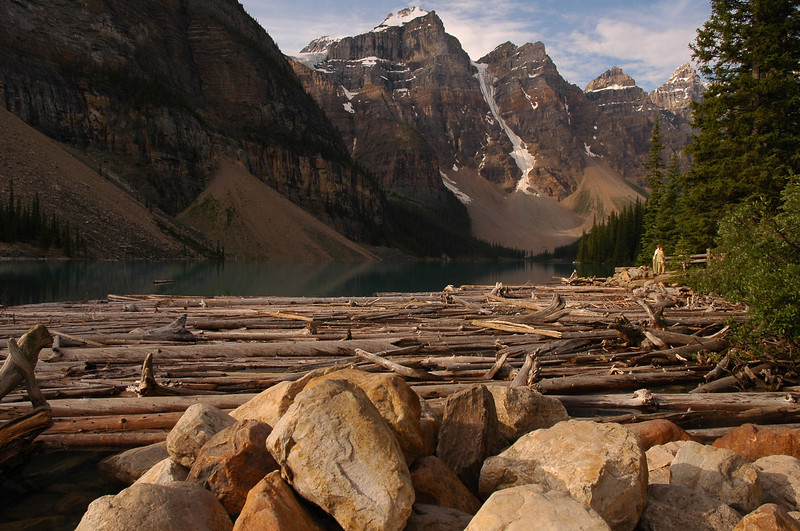 Morraine lake Rocky Mountain landscape mountains scenic landscape - Photograph by professional nature stock photographer Christina Craft