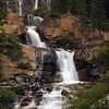 Long exposure of a waterfall Rocky Mountain landscape mountains scenic landscape - Photograph by professional nature stock photographer Christina Craft