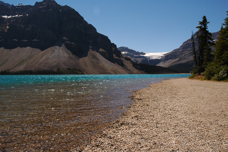 Shoreline and pebbles on a sunny day in the mountains - Nature Stock Image by Professional Nature Photographer Christina Craft
