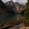 Moraine Lake in the rockies on a sunny morning - Nature Stock Image by Professional Nature Photographer Christina Craft