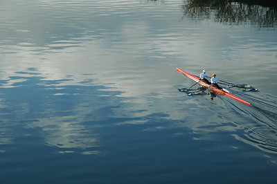 kayakers rowing - Nature Stock Image by Professional Nature Photographer Christina Craft