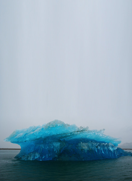 Photograph shot vertically allowing lots of room in the header for text - Ice Blue Iceberg Stock Photo by Nature Photographer Christina Craft