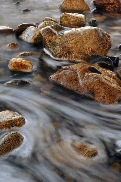 rock, rocks on a beach with long exposure motion blur - Nature Stock Image by Professional Nature Photographer Christina Craft