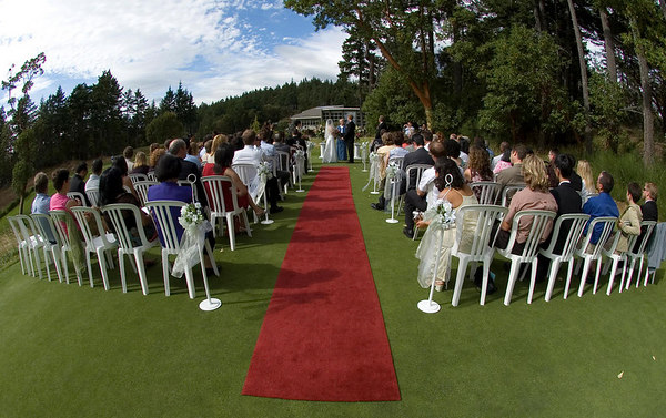 Another crowd shot. I don't go crazy with the fisheye during the ceremony - but it is cool to provide a surreal/larger view of the ceremony location.