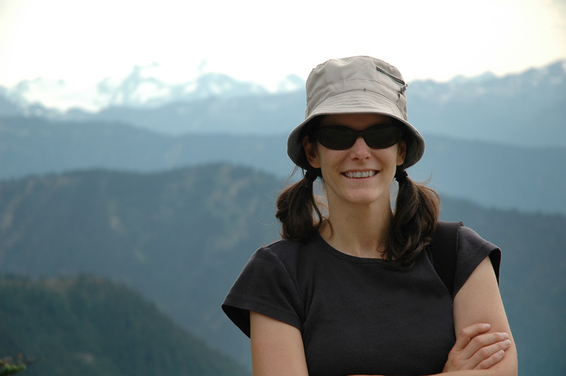 A woman hiking in Olympic National Park <br /> Professional Nature Photography by Christina Craft of the Nature Stock Photography Library