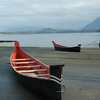 Two aboriginal canoes in the seaside town of Tofino in Clayoquot Sound B.C. Stock Photo by Nature Photographer Christina Craft