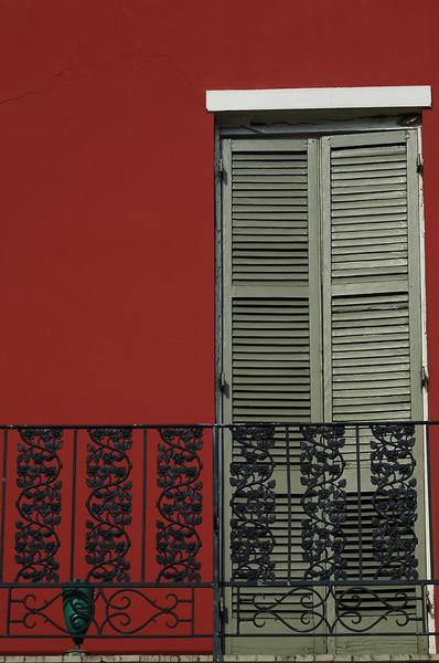 New Orleans red door<br /> Professional Nature Photography by Christina Craft of the Nature Stock Photography Library